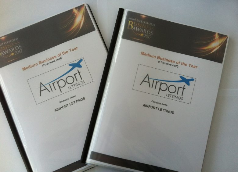 Airport Lettings - business awards